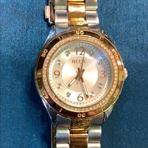 Relic two toned ladies watch